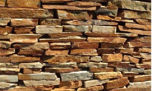 Fournisseur de pierres naturelles, parement de schiste jaune à coller, à Fréjus, Eden pierres