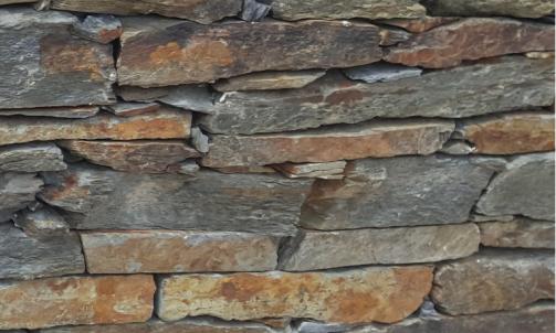 Fournisseur de pierre naturelle, parement de schiste oxydé à coller, Le Luc, Eden pierres
